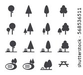 park icon set | Shutterstock .eps vector #568536511