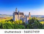 summer view of neuschwanstein... | Shutterstock . vector #568537459