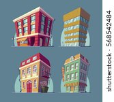 set of vector isometric icons... | Shutterstock .eps vector #568542484
