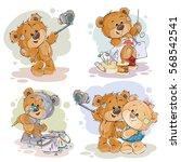set vector clip art... | Shutterstock .eps vector #568542541