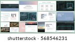 Presentation templates. Use in presentation, flyer and leaflet, corporate report, marketing, advertising, annual report, banner. modern style. Business template for brochure or booklet.   Shutterstock vector #568546231