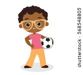 african american boy with... | Shutterstock .eps vector #568548805