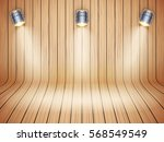 curved wooden background with... | Shutterstock .eps vector #568549549