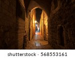 Night Street In The Old City Of ...