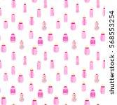 bottle baby. seamless pattern... | Shutterstock .eps vector #568553254
