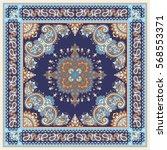 paisley bandana print | Shutterstock .eps vector #568553371