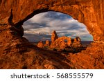 view of turret arch from the... | Shutterstock . vector #568555579