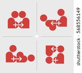 kamasutra positions styled in... | Shutterstock .eps vector #568556149