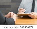 job interview  hiring concept | Shutterstock . vector #568556974