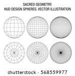 sacred geometry. hud design... | Shutterstock .eps vector #568559977