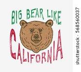 hand lettered big bear like... | Shutterstock .eps vector #568560037