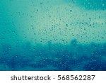 Water Rain Drops On Window....