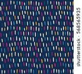 hand drawn striped seamless... | Shutterstock .eps vector #568565935