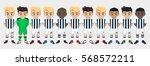 vector character football team | Shutterstock .eps vector #568572211