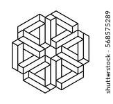 unreal isometric figure  space...   Shutterstock .eps vector #568575289