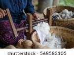 Spinning Cotton Into Thread By...