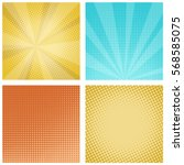 comic background in retro pop... | Shutterstock .eps vector #568585075