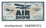 vintage air show pass ticket...   Shutterstock .eps vector #568589251