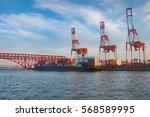 transportation and logistics of ... | Shutterstock . vector #568589995