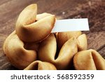 many chinese fortune cookie... | Shutterstock . vector #568592359