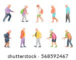 people on the street. old... | Shutterstock .eps vector #568592467