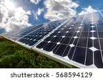 solar panel  photovoltaic ... | Shutterstock . vector #568594129