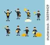 set of flat vector business... | Shutterstock .eps vector #568594429
