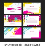 set of horizontal artistic... | Shutterstock .eps vector #568596265