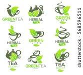 green herbal  organic tea ... | Shutterstock .eps vector #568596511