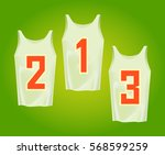 european football jersey flat... | Shutterstock .eps vector #568599259