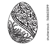 hand drawn ornamental easter... | Shutterstock .eps vector #568603099