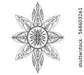 coloring page. beautiful mandala | Shutterstock .eps vector #568603261