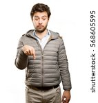 photo of a surprised man... | Shutterstock . vector #568605595