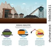 coal mining industry and... | Shutterstock .eps vector #568610611