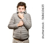 man who has cold | Shutterstock . vector #568610635