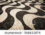 famous copacabana sidewalk... | Shutterstock . vector #568611874