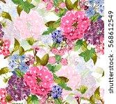 elegant seamless pattern with... | Shutterstock .eps vector #568612549
