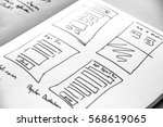 web layout sketch paper book ...