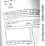 web layout sketch paper book ... | Shutterstock . vector #568619089