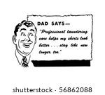 dad says   retro spokesman  ... | Shutterstock .eps vector #56862088