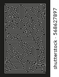 large vector vertical maze on... | Shutterstock .eps vector #568627897
