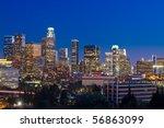 Los Angeles Skyline At Night...