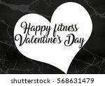 fitness valentine's day... | Shutterstock . vector #568631479