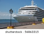 the passenger ship expects... | Shutterstock . vector #56863315