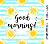 vector good morning... | Shutterstock .eps vector #568639321