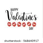 happy valentine's day vector...   Shutterstock .eps vector #568640917