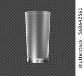 drinking glass cup. transparent ... | Shutterstock .eps vector #568642561