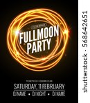 fullmoon party design flyer.... | Shutterstock .eps vector #568642651
