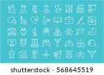 set vector line icons  sign and ... | Shutterstock .eps vector #568645519