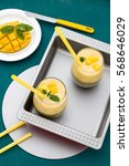 double layered mango and greens ... | Shutterstock . vector #568646029